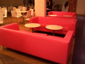 Pink sofas, Canterbury