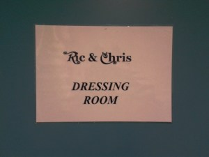 Ric and Chris's Dressing Room, Canterbury
