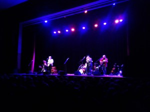 Band onstage, St Albans