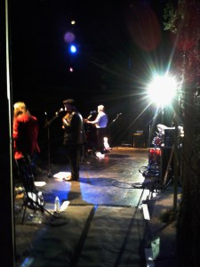 Band onstage, Tunbridge Wells