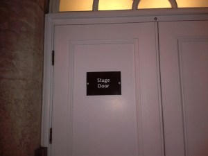 Stage Door, Birmingham Town Hall