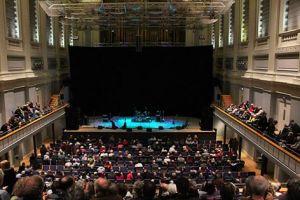Almost Showtime, Birmingham Town Hall ~ photo courtesy of Andrew Elias