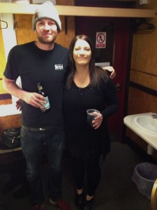 With Owain, Leeds (photo courtesy of Leila!)