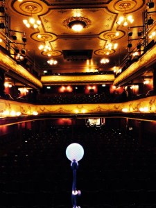 My view from the stage, Leeds (photo courtesy of Miss Leila!)