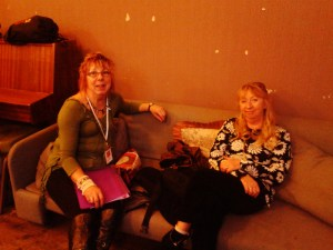 Stevie and Jacqui Backstage, London