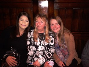 With Jacqui and Nicola, London